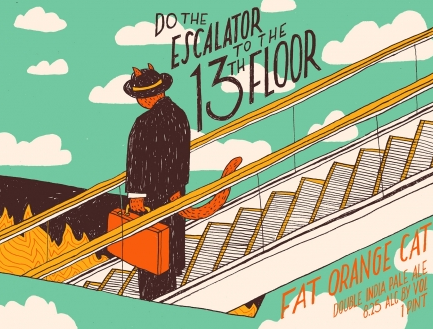 Fat Orange Cat Fat Orange Cat Escalator to the 13th floor (4pk 16oz cans)