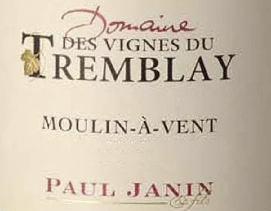 Paul Janin Moulin A Vent Beaujolais 2017