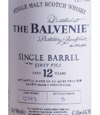Balvenie Balvenie 12 year First Fill Single Cask 750ml