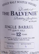 Balvenie Balvenie 12 year First Fill Single Cask 750ml