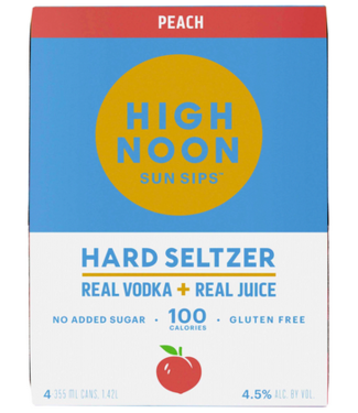 High Noon Peach (4pk cans)