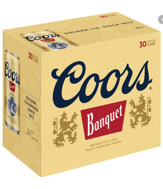 Coors Coors Banquet (30pk 12oz cans)