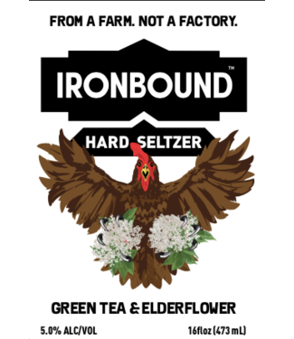 Ironbound Ironbound Green Tea Elderflower Seltzer (4pk 16oz cans)