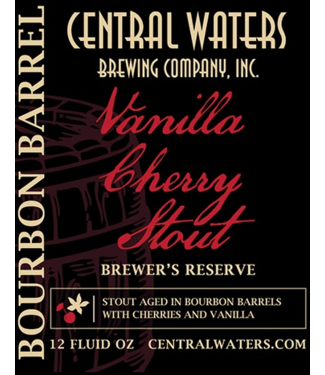 Central Waters Central Waters Brewers Reserve Vanilla Cherry Stout 2020 (4pk 12oz bottles)
