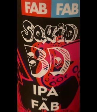 FAB Squid 3D (4pk 16oz cans)