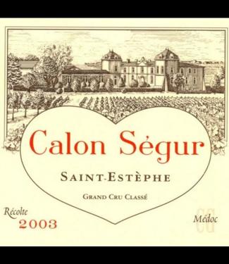 Calon Segur Calon Segur Saint-Estephe Grand Cru 2003