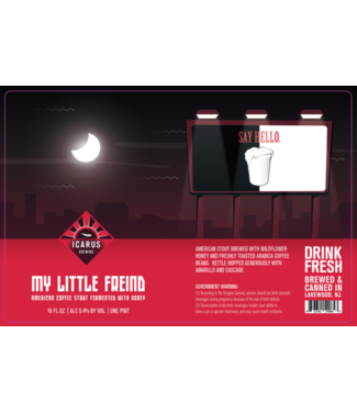Icarus Icarus My Little Freind (4pk 16oz cans)