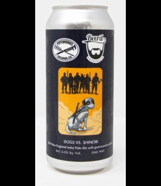 Beer'd Dogs Vs. Shinobis (4pk 16oz cans)
