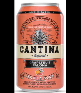 cantina Cantina Especial Grapefruit Paloma Tequila & Soda (4pk 12oz cans)