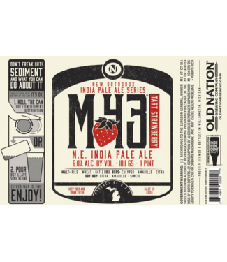 Old Nation M-43 Strawberry (4pk 16oz cans)