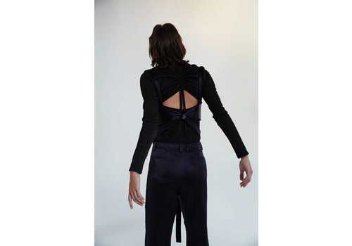 Gathered Back Turtleneck Top