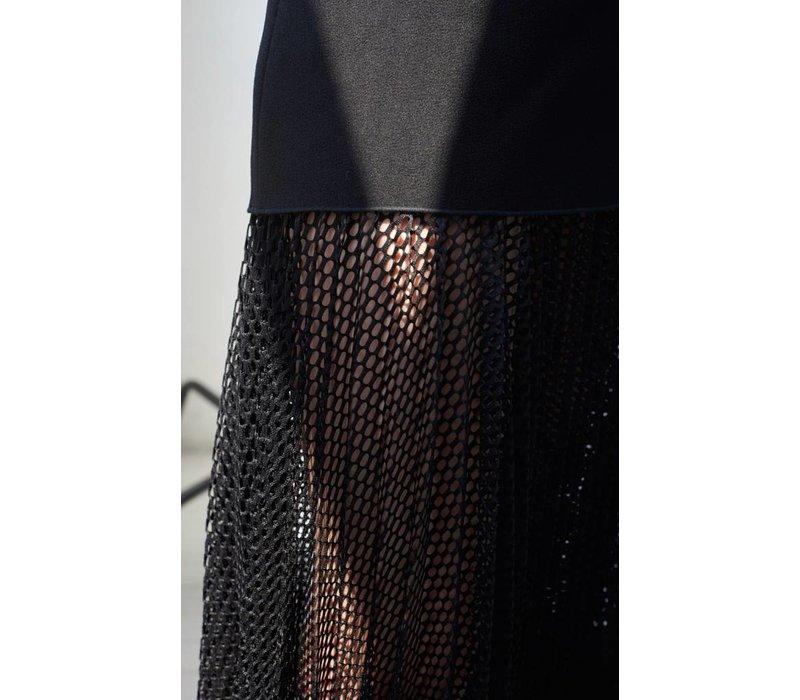 Dion Lee Net Pleat Strapless Dress