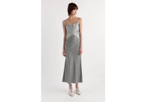 Dion Lee Check Bias Weave Dress
