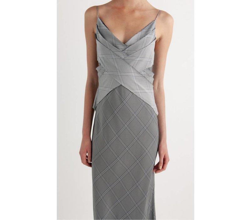 Dion Lee Check Bias Weave Dress