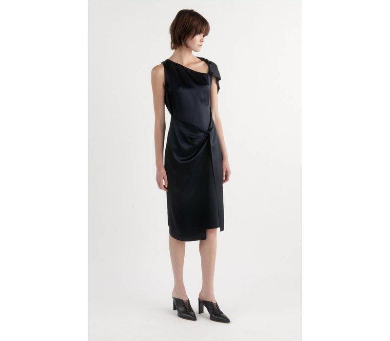 Dion Lee Twist Sleeve Drape Dress