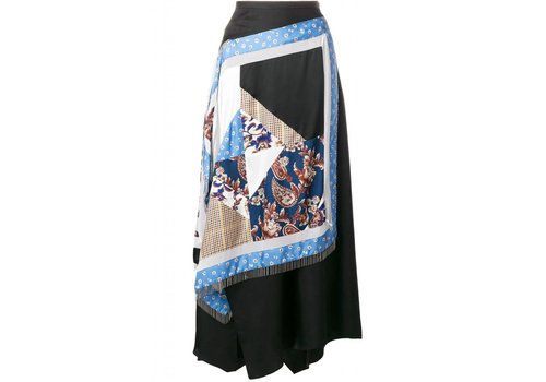 3.1 Phillip Lim Asymmetrical Patchwork Skirt