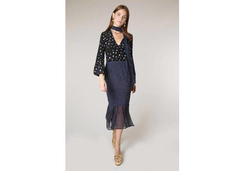 RIXO London Leandra Midi Skirt