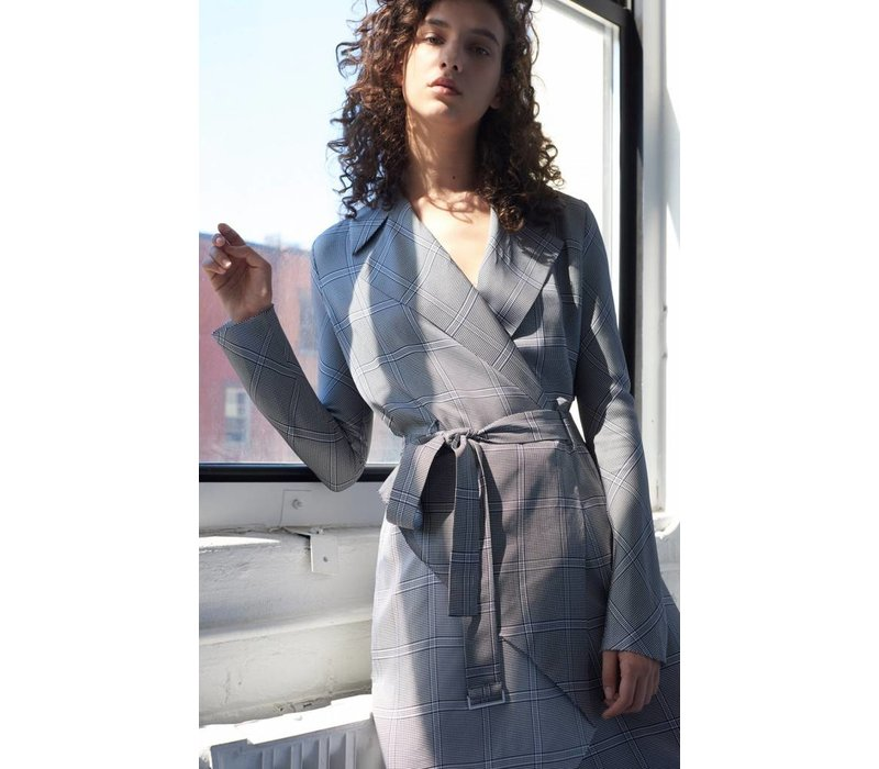 Dion Lee Check Bias Trench Dress