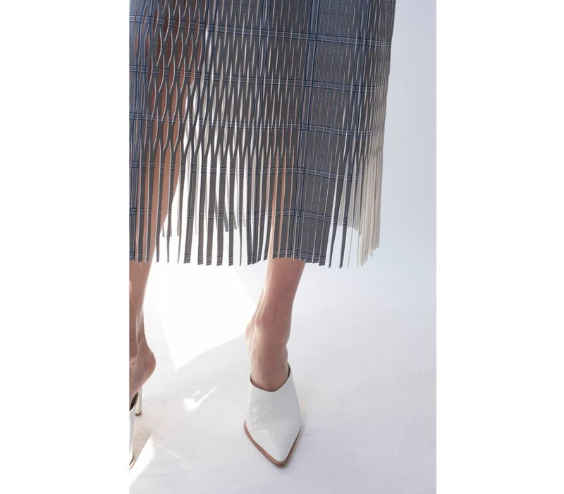 Dion Lee Check Perf Skirt