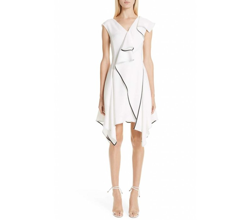 Adeam Deconstructed Ruffle Dress