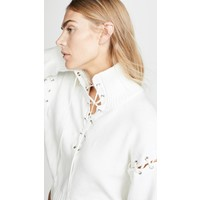 Adeam Lace Up Knit Sweatshirt