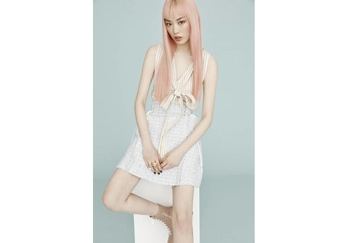Adeam Lace Up Skirt