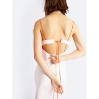 Christopher Esber Lattice Laced Tie Back Dress