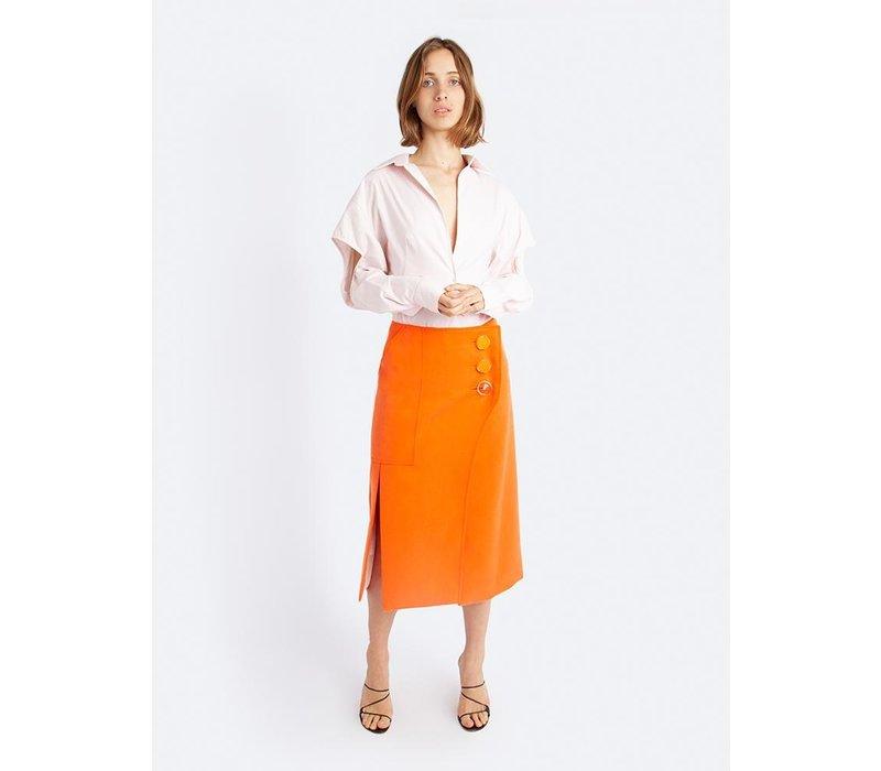 Christopher Esber Ink Button Split Skirt