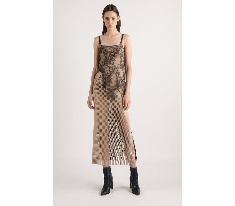 Dion Lee Erosion Lace E-Hook Dress