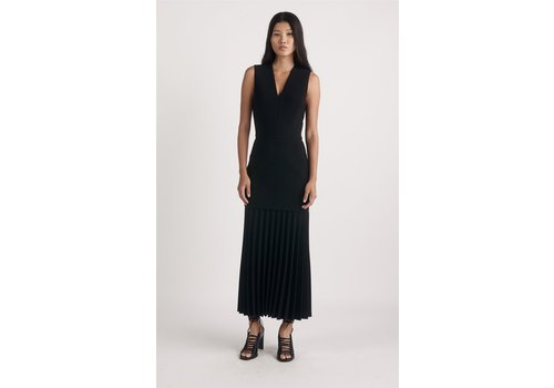 Dion Lee Linear Pleat V Neck Dress
