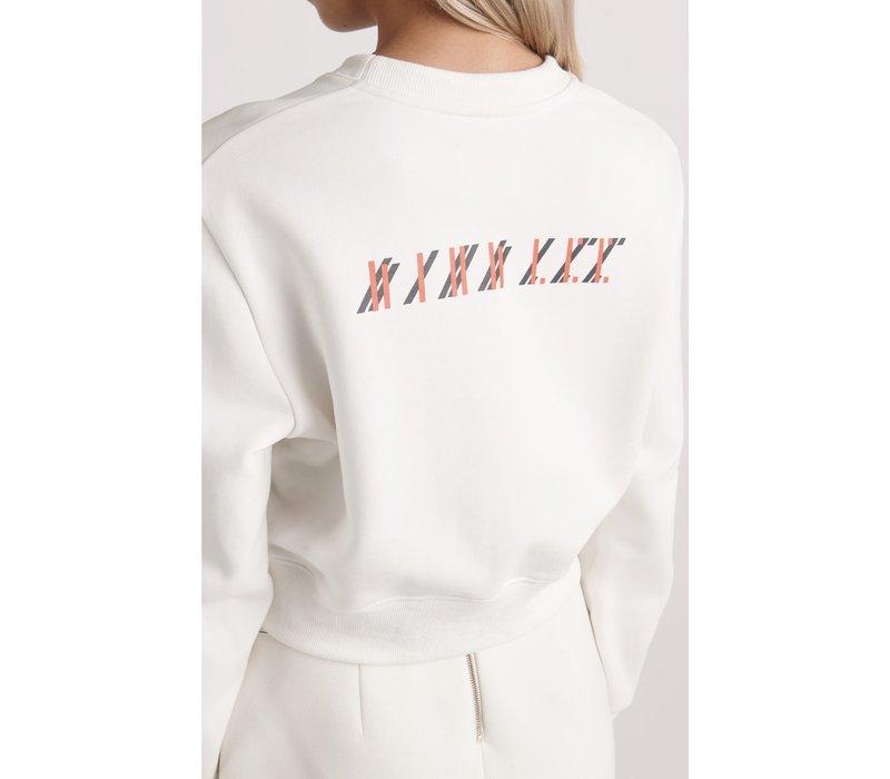 Dion Lee Cropped Logo Sweatshirt