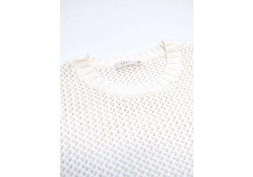 Mesh Crewneck Sweater