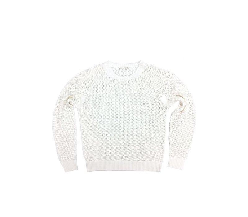 6397 News Mesh Crewneck Sweater