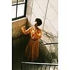 Arje Arje Indira Oriental Silk Ruffle Dress