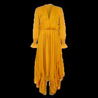 Arje Indira Oriental Silk Ruffle Dress