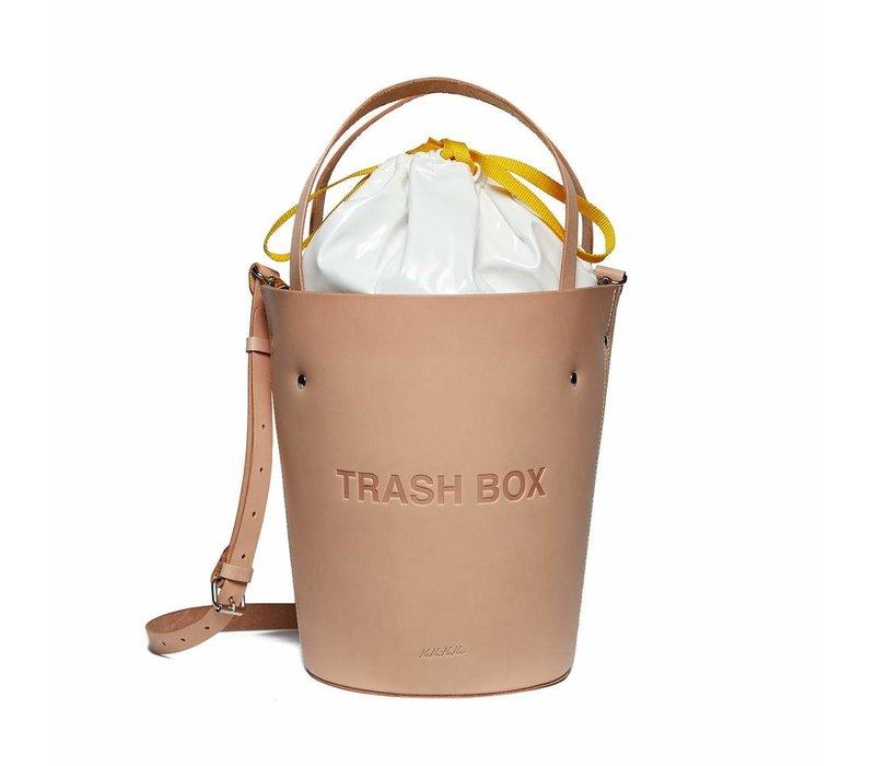 nana-nana Leather Not A Trash Box Bag