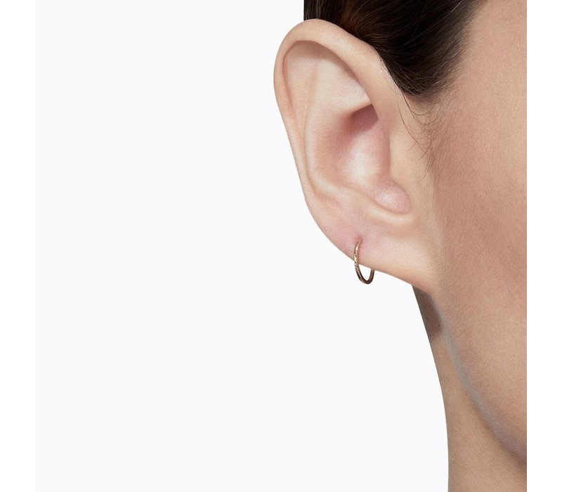 Shihara Oval Form Earring 01 10mm