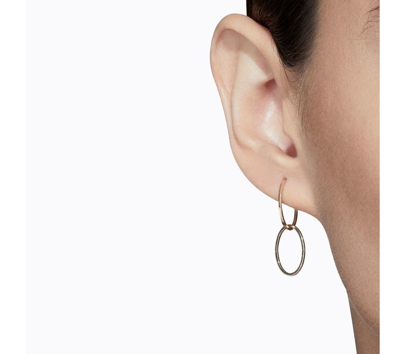 Shihara Oval Form Earring 01 15mm