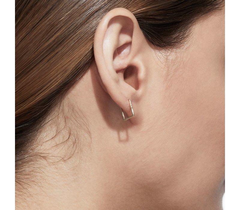 Shihara Rectangle Form Earring 02 10mm