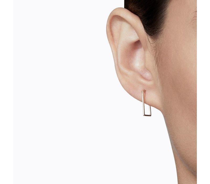 Shihara Rectangle Form Earring 02 15mm