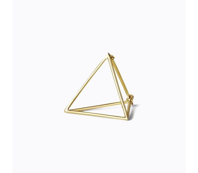 Shihara 3D Triangle Earring 20mm