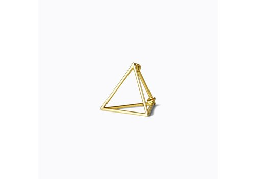 Shihara 3D Triangle Earring 15mm