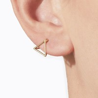 Shihara 3D Triangle Earring 10mm