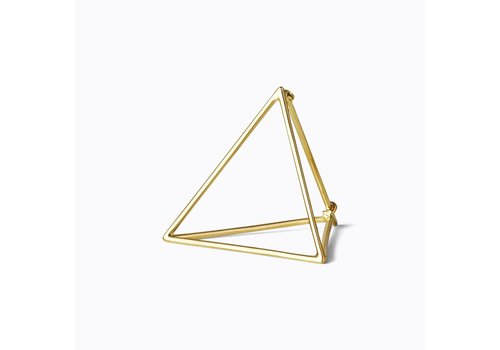 Shihara 3D Triangle Earring 25mm