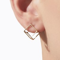 Shihara 3D Square Earring 10mm