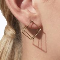 Shihara 3D Square Earring 15mm