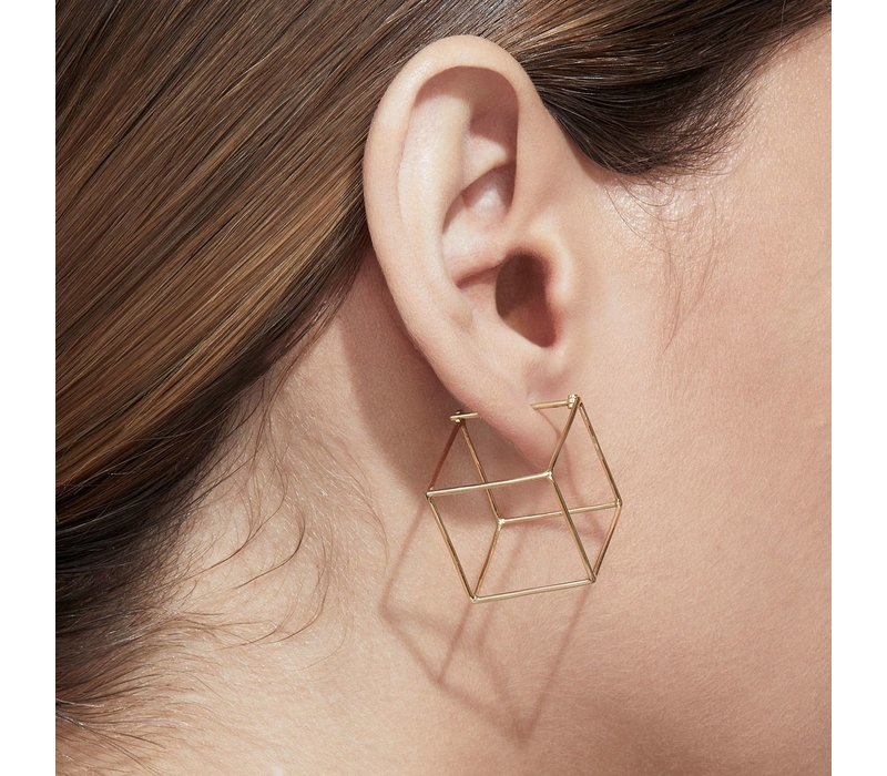 Shihara 3D Square Earring 20mm