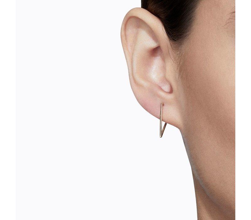 Shihara Triangle Form Earring 03 15mm