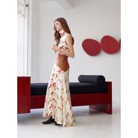 Alejandra Alonso Rojas Hand Painted Horse Print Skirt