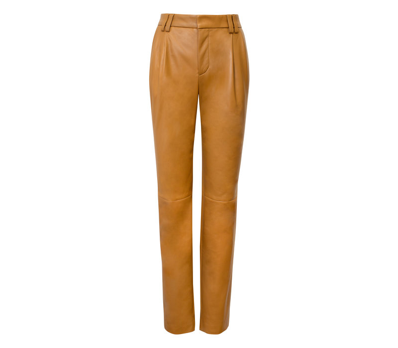 Alejandra Alonso Rojas Nappa Leather Trouser